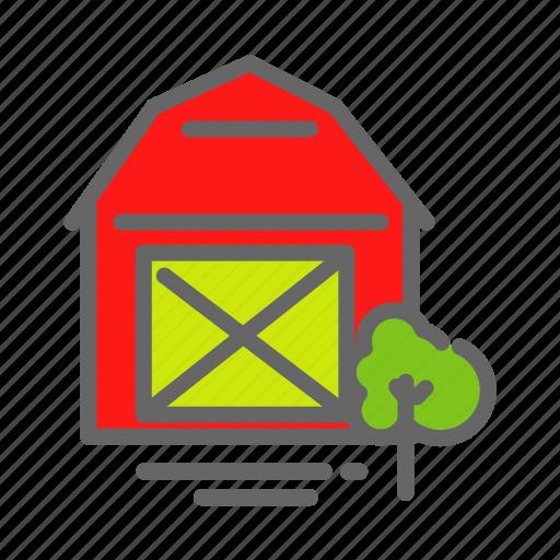 farm, farmhouse, food, house, store, storeage, tree icon