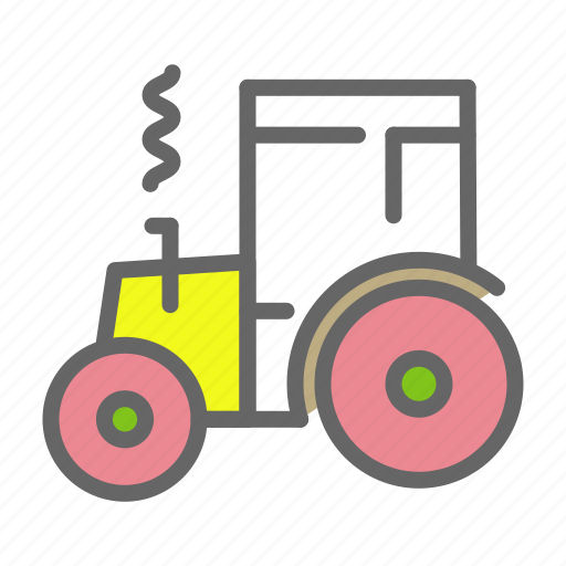 agriculture, farm, tractor, transport, vehicle, work icon