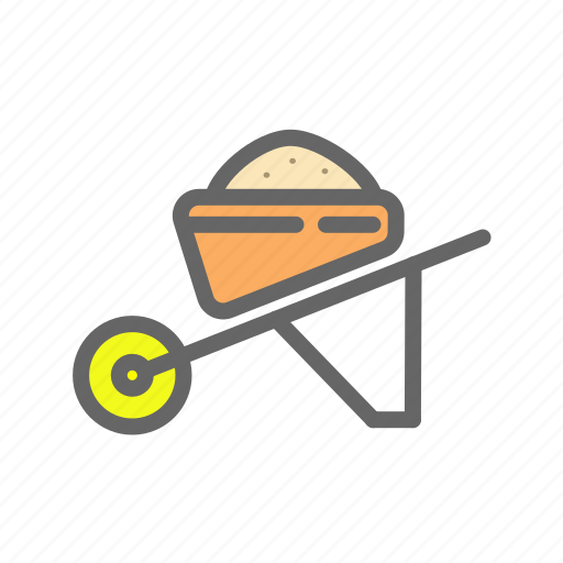 agriculture, farm, transport, vehicle, wheelbarrow, work icon