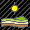farm, plantation, sun, sunset, vegetation