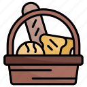 bread, food, basket, market, grocery, bakery, breads