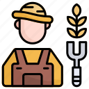 farmer, gardener, profession, job, people, occupation, avatar