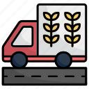 truck, transporation, delivery truck, vehicle, farm, road, deliver