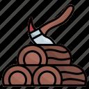 wood, wooden, log, carpentry, woods, deforestation, axe