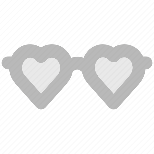 fashion, glamour, heart glasses, love theme, passion, style, valentine day icon