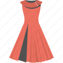 evening gown, fashion clothes, fashion dress, red gown, women dress icon