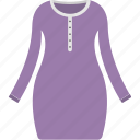 female shirt, female tunic, full sleeves tunic, purple tunic, women clothes icon