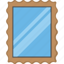 beauty, looking mirror, mirror, mirror with frame, wall mirror icon