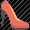 glamour, high heel shoe, pump shoe, red pump, women shoe icon