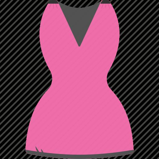 fashion clothes, women clothes, women dress, women garment, wrap dress icon
