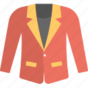 blazer, clothes, coat, mens jacket, red coat icon