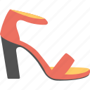 fashion, female sandal, footwear, high heel sandal, strappy red sandal icon