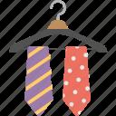 wardrobe, hanger ties, colored ties, fashion, necktie