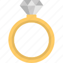 diamond ring, fashion, finger ring, jewelry, wedding ring icon