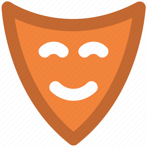 act, carnival mask, comedy mask, entertainment, face mask, fun, theatrical mask icon