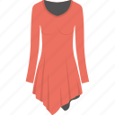 female shirt, female tunic, full sleeves tunic, red tunic, women clothes icon