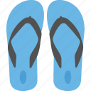 beach sandals, flip flops, footwear, home slippers, pair of sandal icon