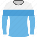 long sleeves sweatshirt, round neck sweatshirt, sweater, sweatshirt, winter clothes icon