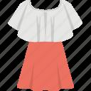 dress on hanger, female dress, festive dress, skirt dress, vintage dress icon