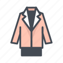 fashion, jacket, suit icon