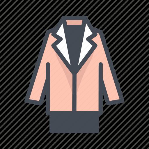 fashion, jacket, suit icon