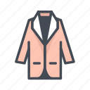 apparel, fashion, jacket icon