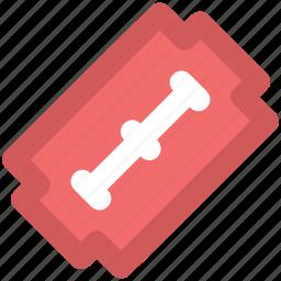 blade, danger instrument, edge tool, razor blade, sharp tool, shaving blade, shaving equipment icon