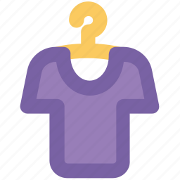 clothes, clothing, garment, half sleeves, shirt on hanger, sports wear, tee icon