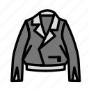 accesories, clothing, fashion, jacket icon