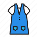 accesories, clothing, fashion, overalls icon