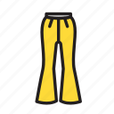 accesories, clothing, fashion, pants icon