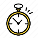 accesories, clothing, fashion, pocketwatch icon