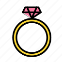 accesories, clothing, fashion, ring icon
