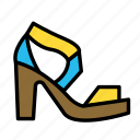 accesories, clothing, fashion, sandals icon