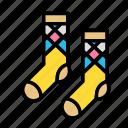 accesories, clothing, fashion, socks icon