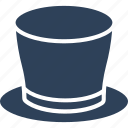 hat, magic top hat, magic wand hat, magician cap icon