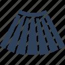clothing, long skirt, skater skirt, skirt icon