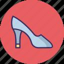 footwear, high heel, prism heels, pump shoes icon