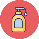 bathe shampoo, foam dispenser, liquid bottle, shampoo icon
