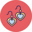 beauty, earrings, fashion accessory icon