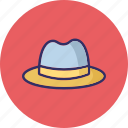 cowboy hat, fedora hat, floppy hat, hat icon