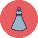 \, frock, party dress, swing dress, woman clothing icon