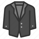 clothes, coat, fashion, formal, man, suit icon