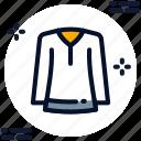 crew neck, round neck shirt, round-neck, shirt icon icon