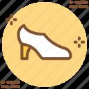 bride, heals, shoes, slipper, wedding, woman icon icon