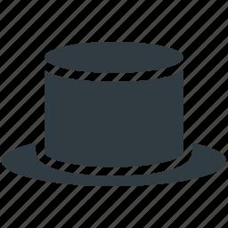 hat, magic top hat, magic wand hat, magician cap, magician hat icon