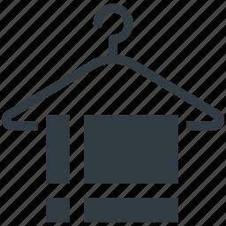 bathing, hanged towel, shower, towel, towel on hanger icon