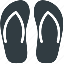beach sandal, flipflops, house slippers, pair of sandal, slippers icon