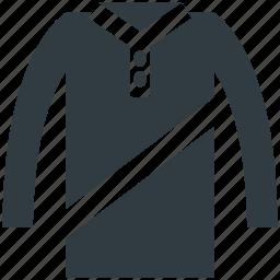 dress, ladies dress, ladies shirt, long shirt, tunic dress icon
