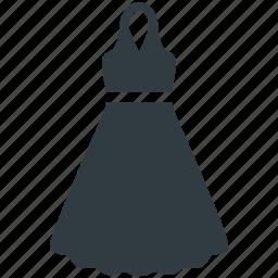 frock, party dress, straps dress, woman clothing, women dress icon